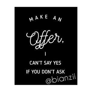 ✨MAKE OFFERS LOVES💕